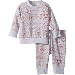 Betty + Tootie All Over Hearts Fleece Set (Infant)