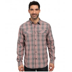 Silver Ridge Plaid L/S Red Element Heahtered Plaid