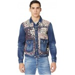 DSQUARED2 Denimu002FPrinted Voile Jean Jacket Blue