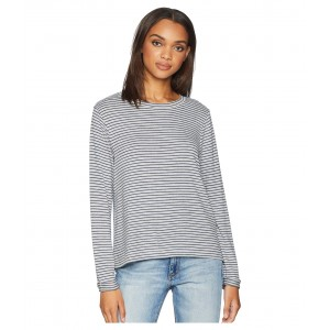 Chasing You Stripe Long Sleeve Top Heritage Heather Thin Stripes