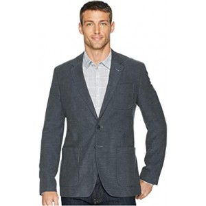 Wool Twill Patch Pocket Blazer Deep Slate