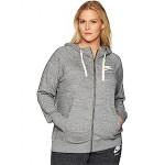 Nike Plus Size Gym Vintage Full Zip Extended Hoodie Carbon Heather/Sail
