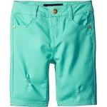 Bermuda Length Distressed Denim Shorts in Cabbage (Little Kids)