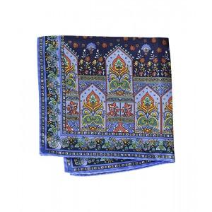 Square Floral Tile Pocket Square