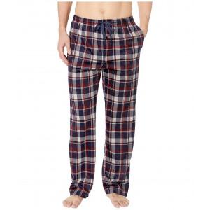 Luxe Fleece Plaid Pants Pomegranite