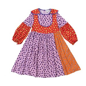 Long Sleeve Ditsy Flowers Dress (Toddler/Little Kids/Big Kids)