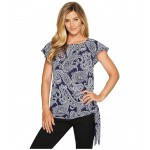 Samara Side Tie Top True Navy