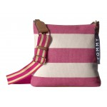 Classic Tommy Large North/South Crossbody Woven Rugby Raspberry Print/Natural