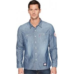 NY Yankees LSC Chambray Shirt Blue