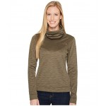 Novelty Glacier Pullover New Taupe Green Stria