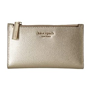 Small Slim Bifold Wallet Pale Gold