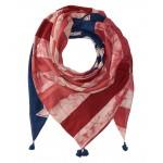Indigo Patchwork Flag Scarf Navy Americana