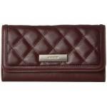 Tavion SLG Checkbook Wallet Dark Garnet