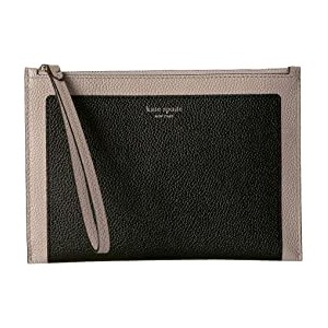 Margaux Small Wristlet Black/Warm Taupe