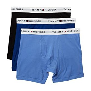 Cotton Boxer Brief 3-Pack Ink Blue