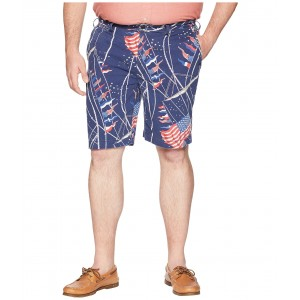 Big & Tall Surplus Chino Flat Front Shorts Flag Print Novelty