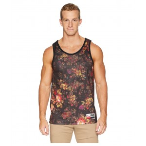 SB Dry Mesh Floral Tank Top Black/White