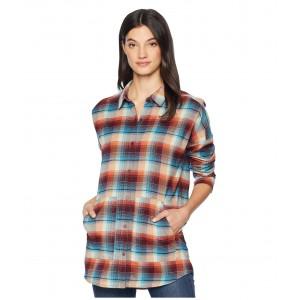 Teyla Flannel Long Sleeve T-Shirt Pelican Vista Plaid