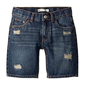 511 Slim Fit Destroyed Denim Cut Off Shorts (Little Kids)