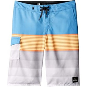 Division Solid Boardshorts (Big Kids) Silver Lake Blue
