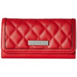 Tavion SLG Checkbook Wallet Dark Lipstick Red