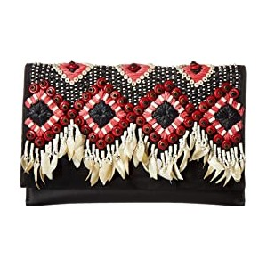 Brooke Embellished Clutch Black
