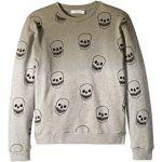 Biz Ombre Sweatshirt w/ All Over Skulls (Toddler/Little Kids/Big Kids)