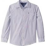 Owen Stripe Long Sleeve Button Down Shirt (Big Kids)