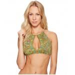Choppa Paisley High Neck Bikini Top Safari Olive
