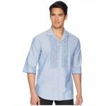 Ruffled Roll Up Shirt Blue