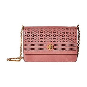 Kira Perforated Shoulder Bag Pink Magnolia