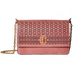 Kira Perforated Shoulder Bag Pink Magnolia
