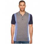 Color Block Polo Sweater Grey/Blue/Navy