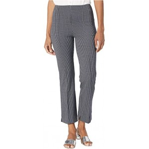 Harley Wide Leg Crop Pants in Lightweight Ponte Jacquard Spring Houndstooth