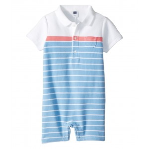 Stripe Pique One-Piece (Infant) Blue Multi Stripe
