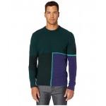 Paul Smith Bottom Split Sweater Forest Green