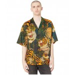 DSQUARED2 Tiger Flower Printed Shirt Green/Orange
