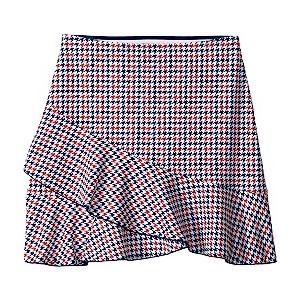 Houndstooth Skirt (Big Kids) Flag Blue