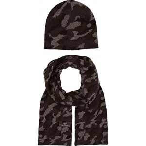 Camo Beanie and Scarf Boxed Set (Toddler/Little Kids) Stout Heather Multi