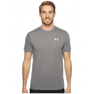 UA Streaker Shortsleeve Tee Carbon Heather/Carbon Heather