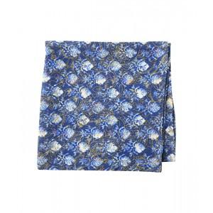 Paisley Line Floral Linen Pocket Square