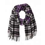 Polo Jacquard Logo Plaid Scarf