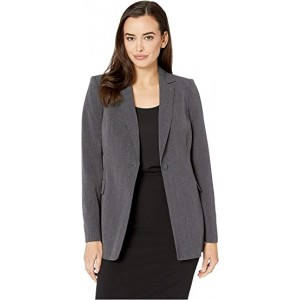 One-Button Jacket Black/Charcoal
