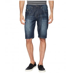 Dean Straight Fit Shorts Bleached and Veined