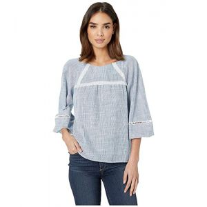 Woven Top w/ 3/4 Sleeves