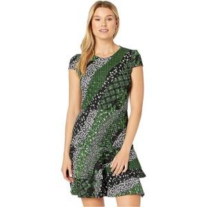 Bias Collage Double Tier Dress