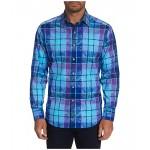 Robert Graham Prototype Button-Up Shirt Blue