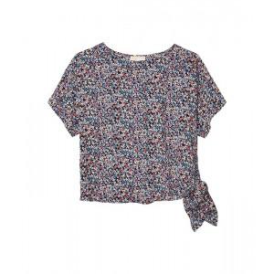 Plus Size Dainty Bloom Side Tie Top