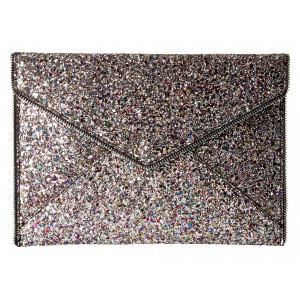 Glitter Leo Clutch Silver Multi