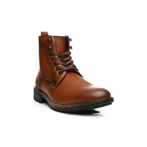 burnished lace up boots